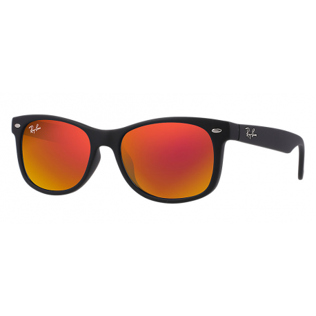 RB9052S 100S6Q 47-15 NEW WAYFARER JUNIOR Rouge Miroir Nylon Noir